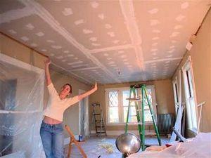 подшивка потолка гипсокартоом