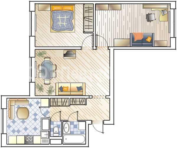 дизайн ремонта трехкомнатной квартиры