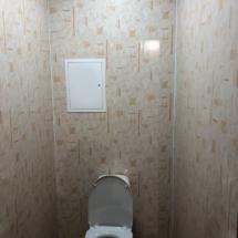 отделка туалета пластиком