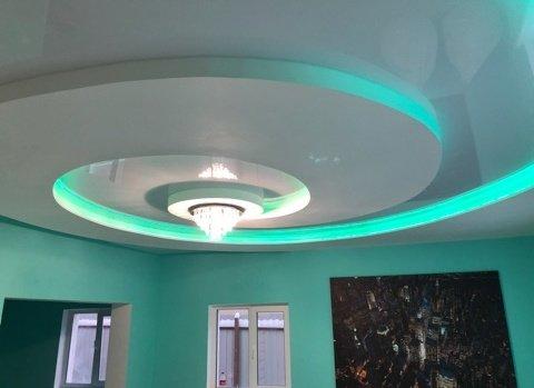Потолок спираль с подветкой