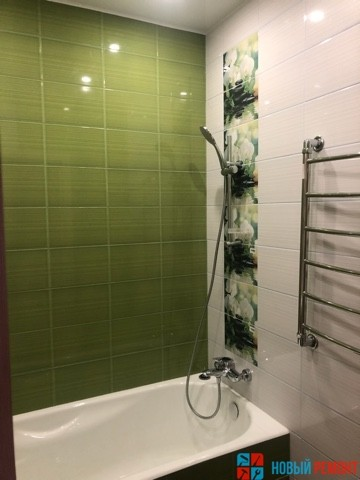 ванная в однокомнатной квартире 40 м.кв
