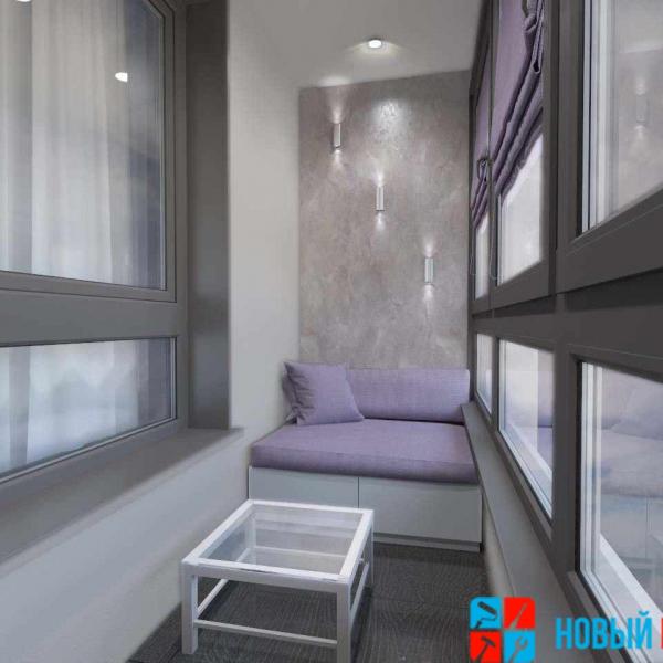 дизайнерская отделка балкона