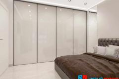 Скрытый шкаф в спальне