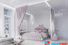 Необычный дизайн спальни с балдахином