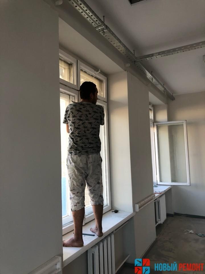 ремонт окон в офисе