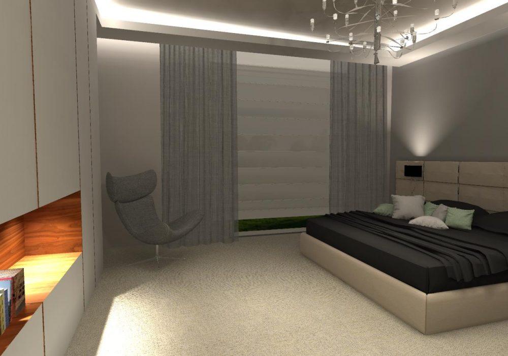 дизайнерское оформление спальни