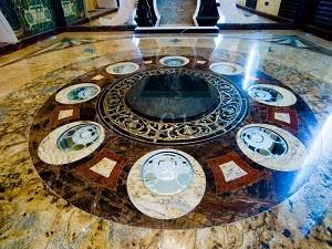 напольная мозайка из камня