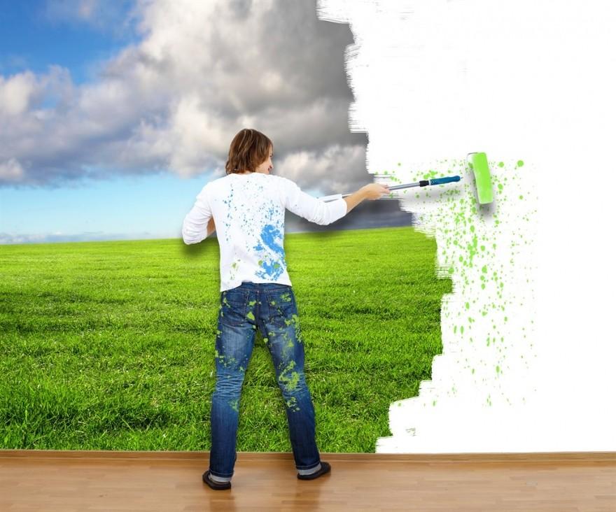 покраска стен в москве