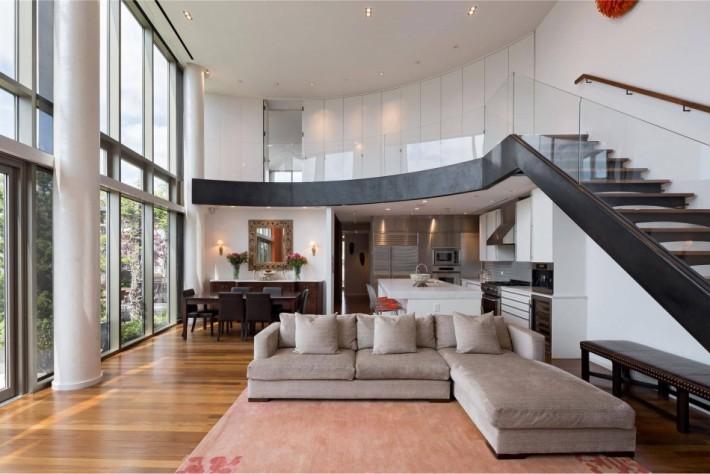 красивая отделка в двухэтажной квартире