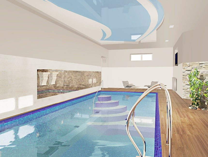 визуализация бассейна в частном доме