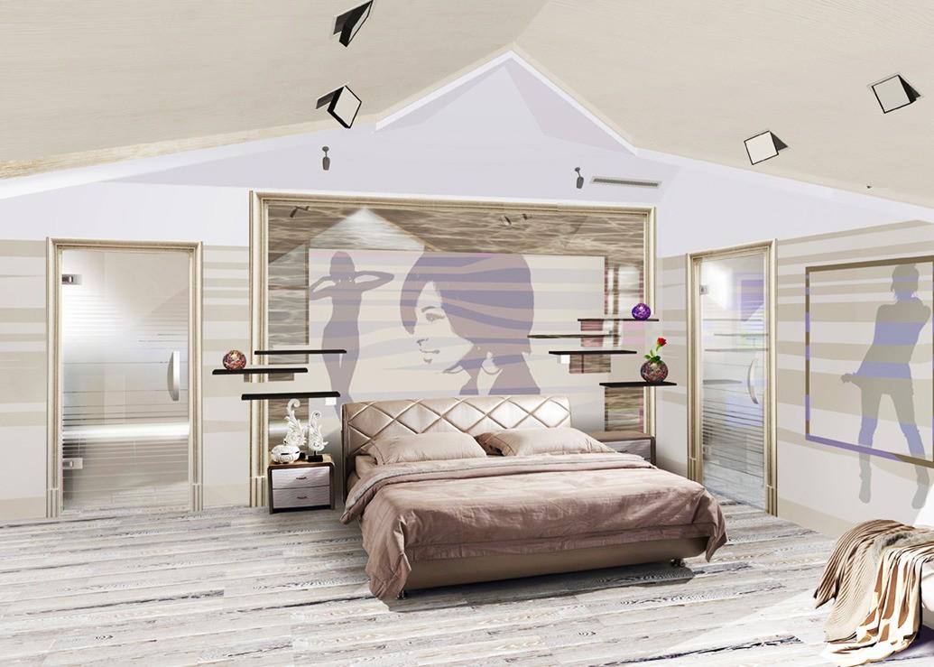 дизайн спальной комнаты в доме