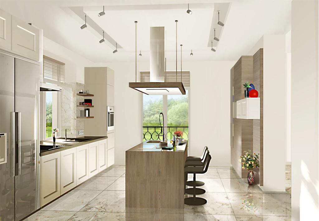 Пример дизайна кухни в доме