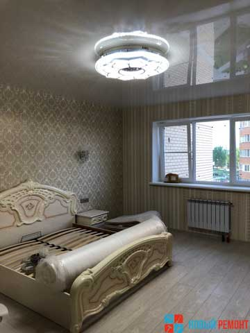 спальня в новой квартире