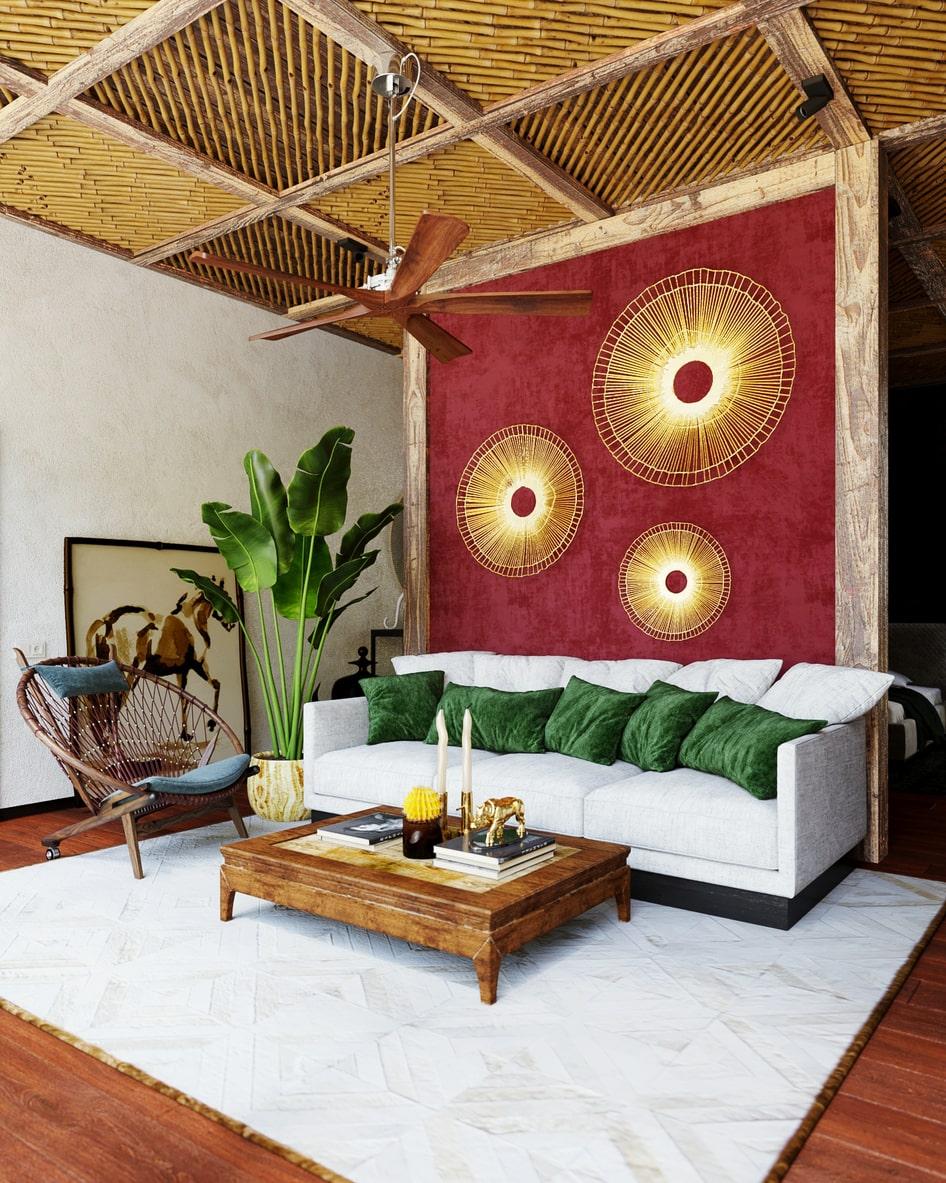 дизайн квартиры в стиле бохо