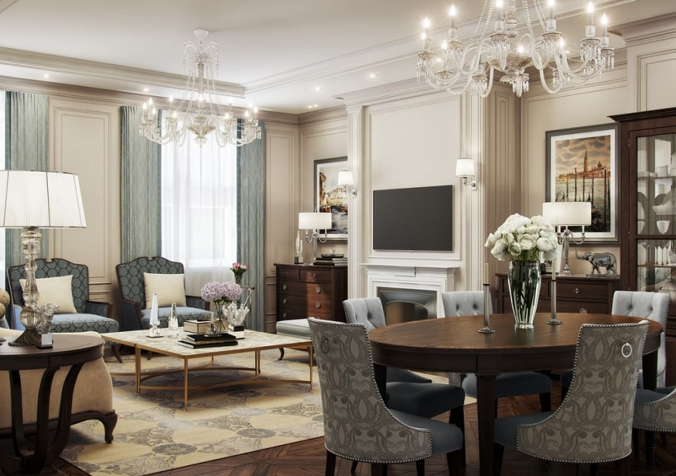 ремонт квартир в стиле классицизм