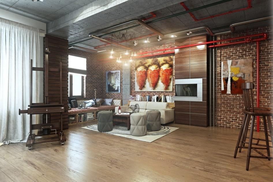 ремонт квартир в стиле рустик