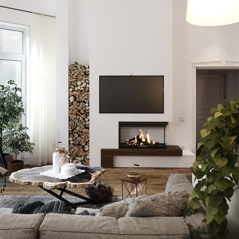 отделка квартиры в скандинавском стиле