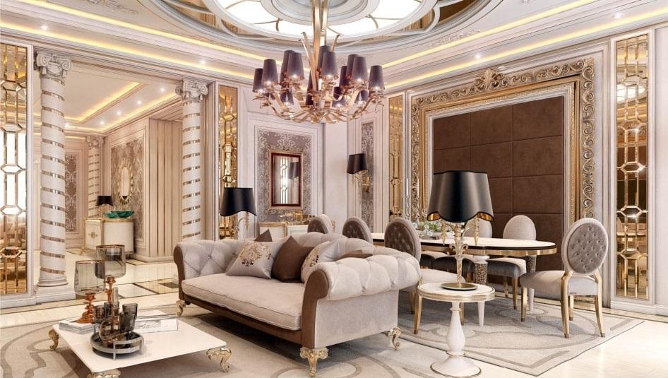 Пример элитного дизайна интерьера