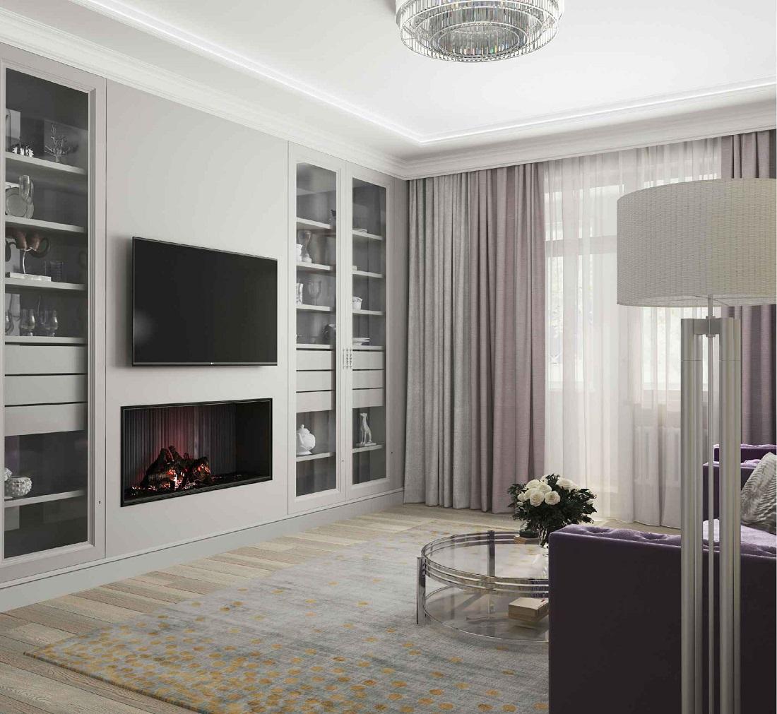 пример 3 визуализации гостиной в квартире (простой вариант)