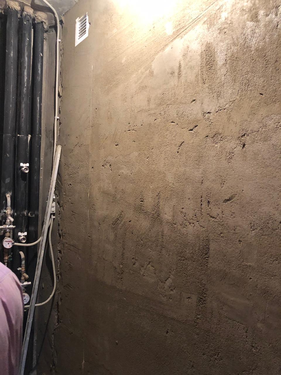 цементная штукатурка в санузле