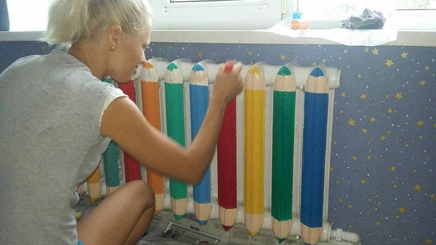 покраска радиаторов в цвет