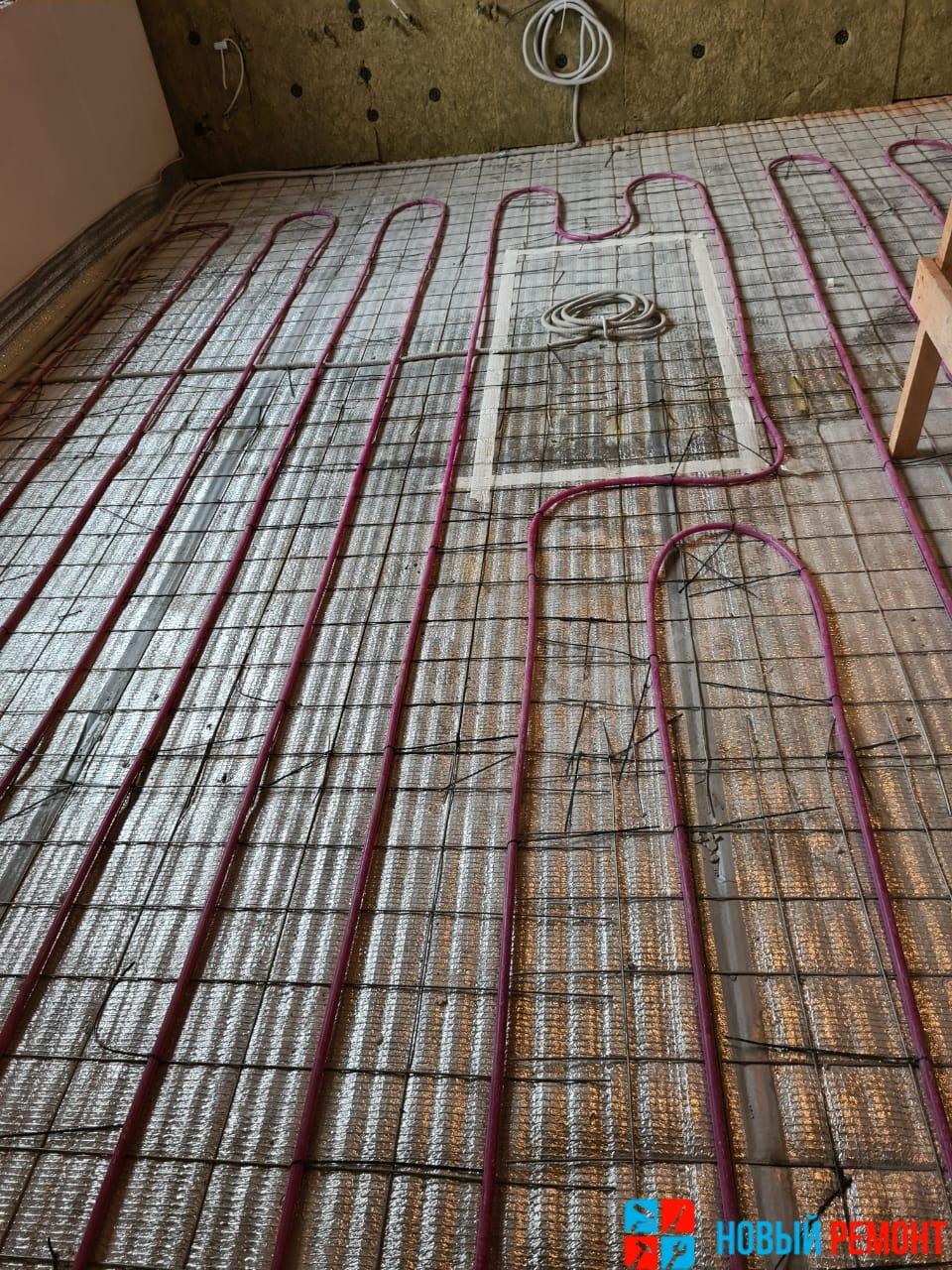 водяные теплые полы первого этажа в таунхаусе